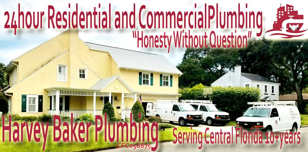 Residential & Commercial Plumber | Harvey Baker Plumbing, Inc Orlando, FL Logo